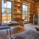 Ruheraum der Blockhaus- Sauna