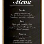 Apercu du menu a 29,90