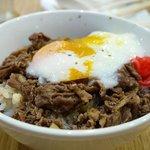 温泉卵+牛丼(並)