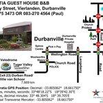 Map to Deo Gratia, Durbanville