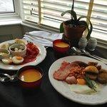 Amazing breakfast in the room