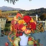Herbst auf der Seeterrasse, Bad Bayersoien, Parkhotel