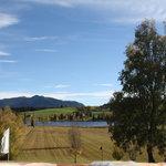 Blick über die Seewiesen im Herbst, Bad Bayersoien, Parkhotel