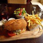 Lamb-burger at Restaurant
