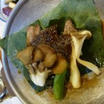 beef and mushrooms grilled with miso