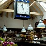The clock, bar area