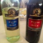 i vini della casa compresi nel menu senza limiti