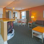Boardwalk's spacious suites feature separate living rooms with sleeper sofas and dining areas.