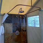 Shower in the Tent Suite, so great