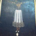 Dipinto del Cristo di Burgos Sec. XVII
