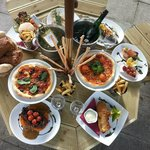 A selection of our Summer Menu in the Restaurant Garden