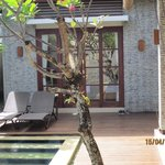 View from private pool to bedroom