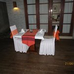 Romantic dinner table at your villa