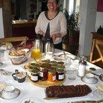 Le sourire de Marie au petit déjeuner
