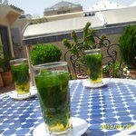 Mint tea time in roof terrace