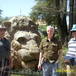 Stone lion in Ifram