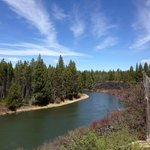 Bike trail along Deschutes