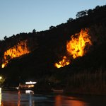 The Rock Tombs at night