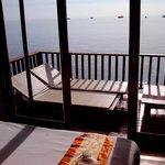 Blick vom Bungalow 108 Richtung Golf von Thailand