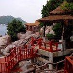 Blick vom Bungalow 108 Richtung Ko Nang Yuan