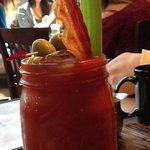 Blood Mary - a meal in a quart jar!