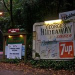 The historic original George's Hideaway sign