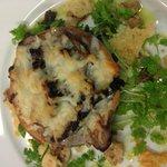 wild mushroom and parmesan tart