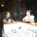 Conversing at the bar