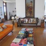 área comum - a sala da casa