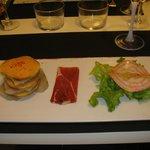 Novel combination with foie gras