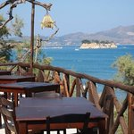 Restaurant terrace with a view