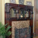 Dining Room- 1893 Redwood Oak Decorative Fireplace