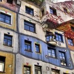 Hundertwasserhaus. Beautiful design.