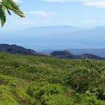 The view of Vulcan Chico, Cerro Azul and Darwin