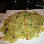 vegetable fried rice in hotel dining