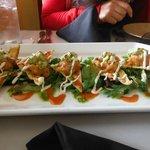 spicy tuna nachos