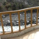 River opposite hotel