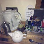 Well equipped tea tray in room!