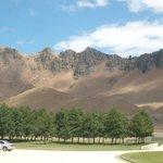 View from Craggy Range to Te Mata Peak