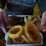 Sirloin Steak and Onion Rings