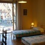Camera doppia o tripla molto luminosa, grande  e mobili antichi