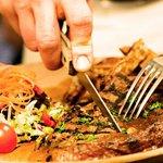 House special rib-eye steak