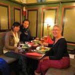 En dejlig frokost efter en dejlig tur langs Farum Sø - uhm 2012 Julen. FotoBodil Hammer