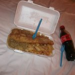 Pablos takeaway haddock, chips and mushy peas. Awesome!