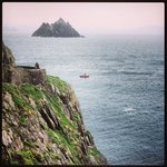 john's boat and little Skellig in the background
