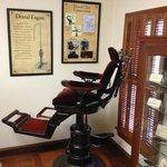 "Old dental chair (""Dental Engine"" not in frame)"