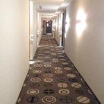The hotel has a sleek, modern design