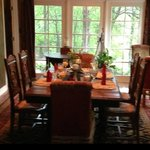 Dining room with beautiful views