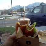 Lark Burger with Chocolate $5 Shake! And gorgeous Boulder Mountains