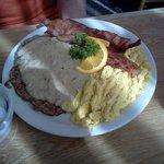 Potato Pancake with Sausage Gravy